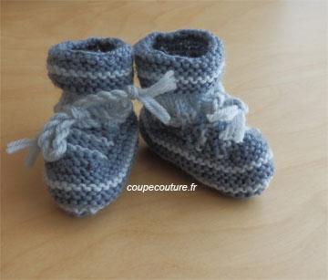 comment tricoter des chaussons de bebe facile